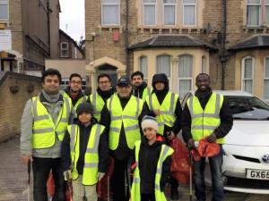 AMYA New Year litter-pick team