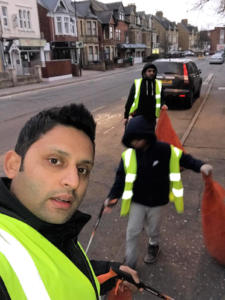 New Year litter-pick