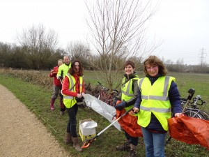 Sustrans volunteers, 2014